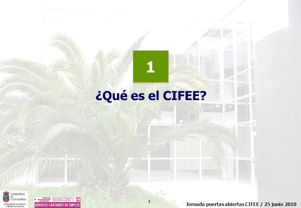 13 Jornada puertas abiertas CIFEE / 25 junio 2010 ¿Qué servicios podemos ofrecer.