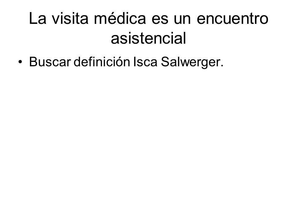 La visita médica es un encuentro asistencial Buscar definición Isca Salwerger.