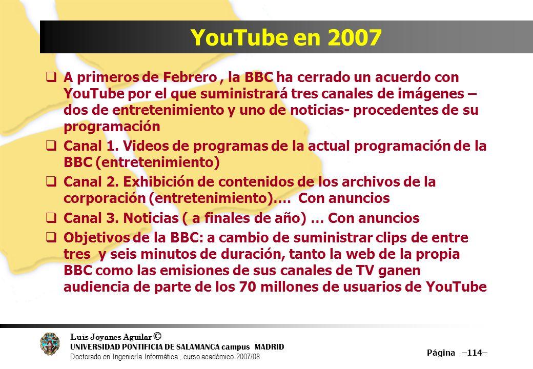 Luis Joyanes Aguilar © UNIVERSIDAD PONTIFICIA DE SALAMANCA campus MADRID Doctorado en Ingeniería Informática, curso académico 2007/08 Página –114– You