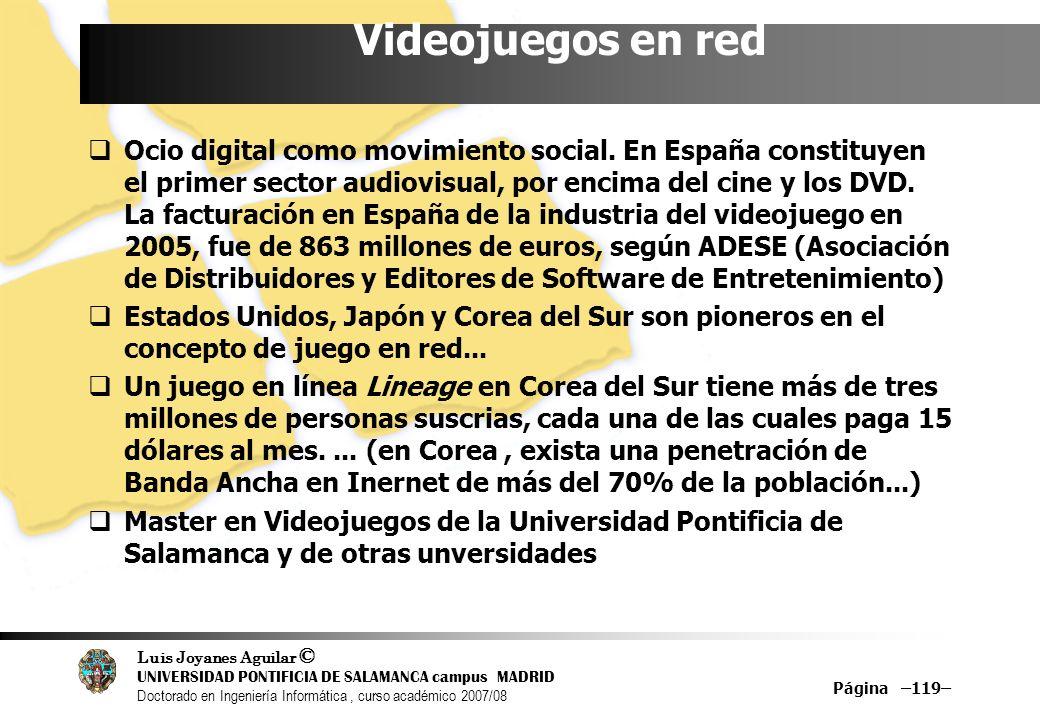 Luis Joyanes Aguilar © UNIVERSIDAD PONTIFICIA DE SALAMANCA campus MADRID Doctorado en Ingeniería Informática, curso académico 2007/08 Página –119– Vid