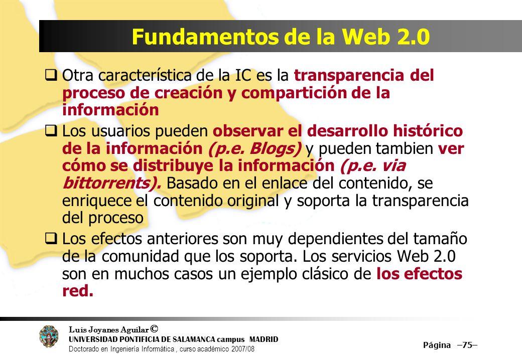 Luis Joyanes Aguilar © UNIVERSIDAD PONTIFICIA DE SALAMANCA campus MADRID Doctorado en Ingeniería Informática, curso académico 2007/08 Página –75– Fund