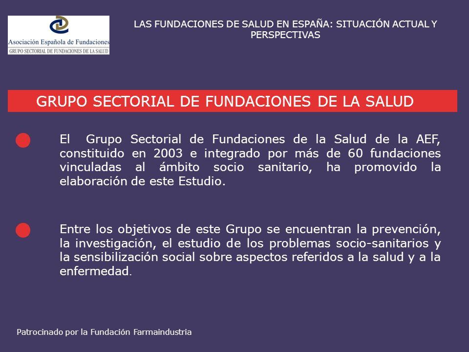 LAS FUNDACIONES DE SALUD EN ESPAÑA: SITUACIÓN ACTUAL Y PERSPECTIVAS GRUPO SECTORIAL DE FUNDACIONES DE LA SALUD El Grupo Sectorial de Fundaciones de la