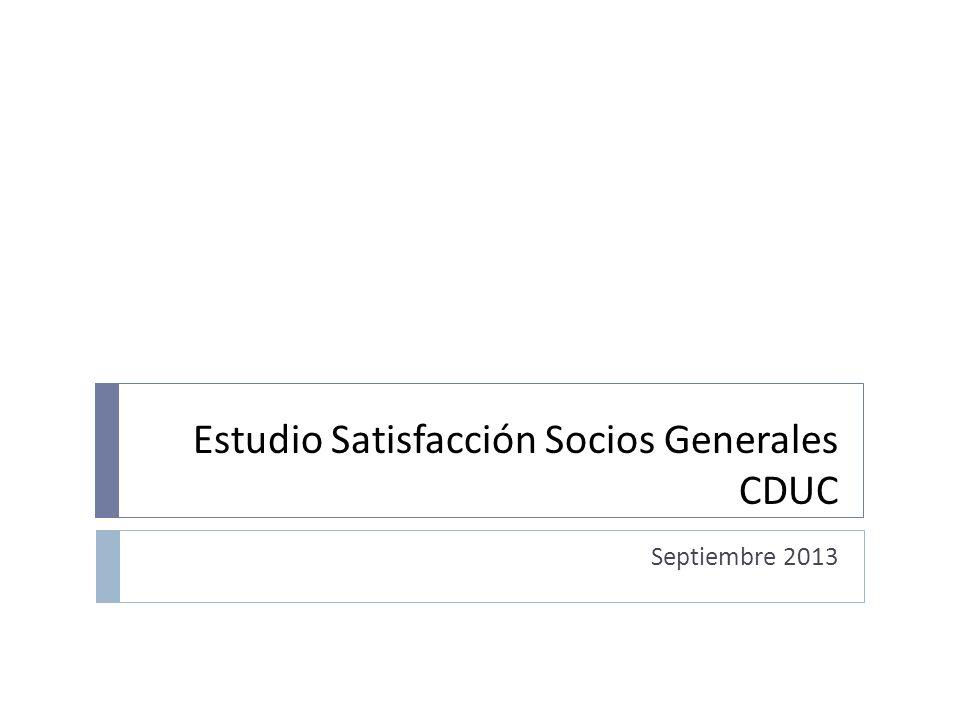 Estudio Satisfacción Socios Generales CDUC Septiembre 2013