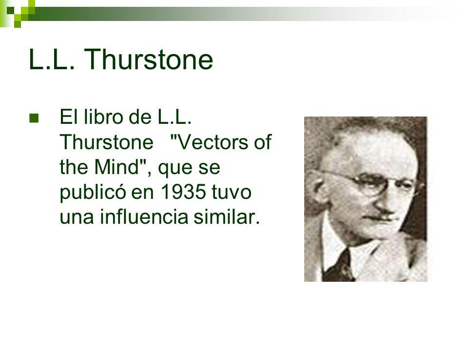L.L. Thurstone El libro de L.L. Thurstone