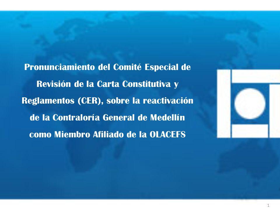Pronunciamiento del Comité Especial de Revisión de la Carta Constitutiva y Reglamentos (CER), sobre la reactivación de la Contraloría General de Medel