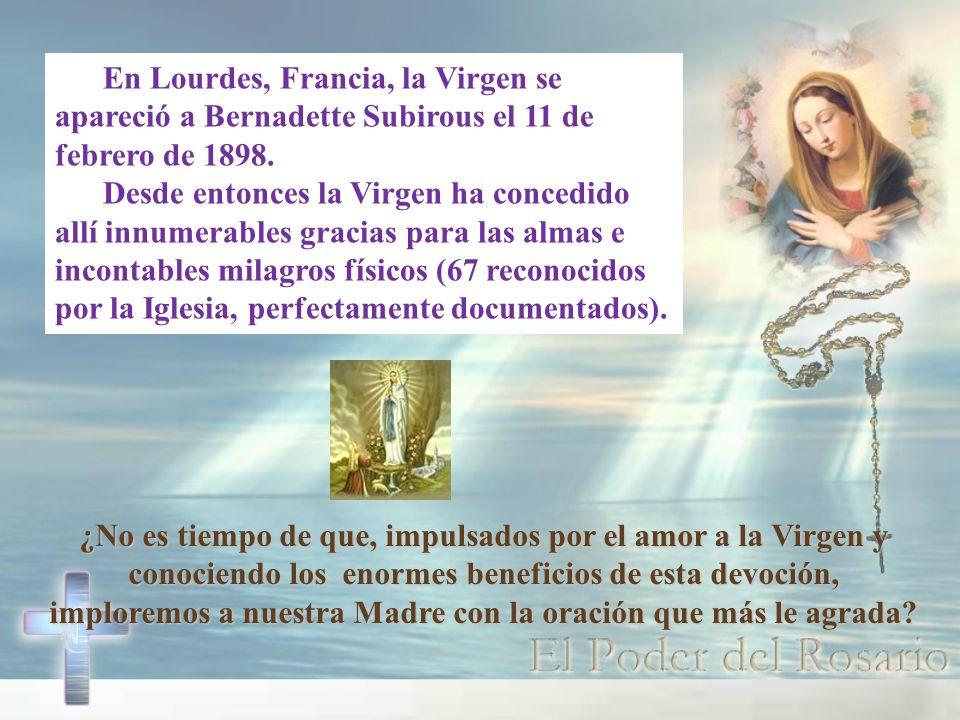 ¿No es tiempo de que, impulsados por el amor a la Virgen y conociendo los enormes beneficios de esta devoción, imploremos a nuestra Madre con la oraci
