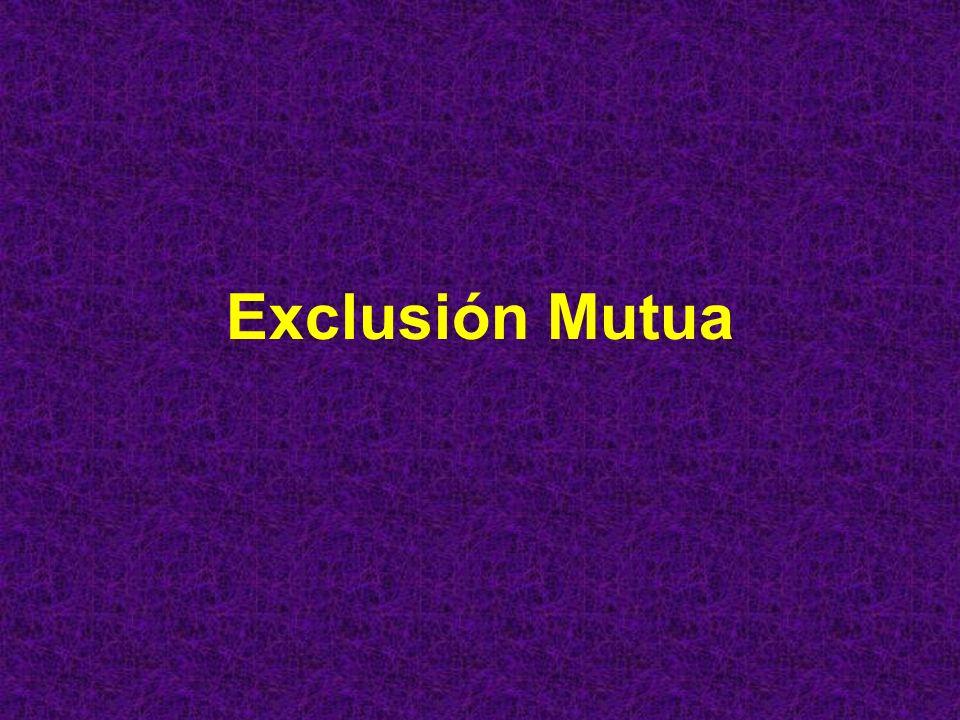 Exclusión mutua: Centralizada Se escoge un proceso como coordinador.