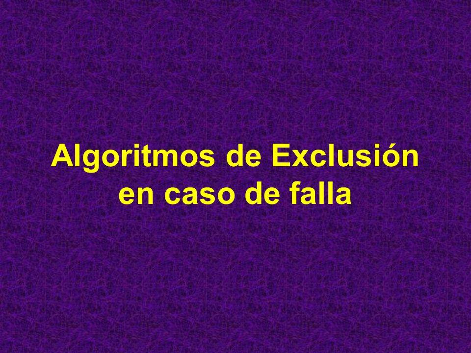 Algoritmos de Exclusión en caso de falla