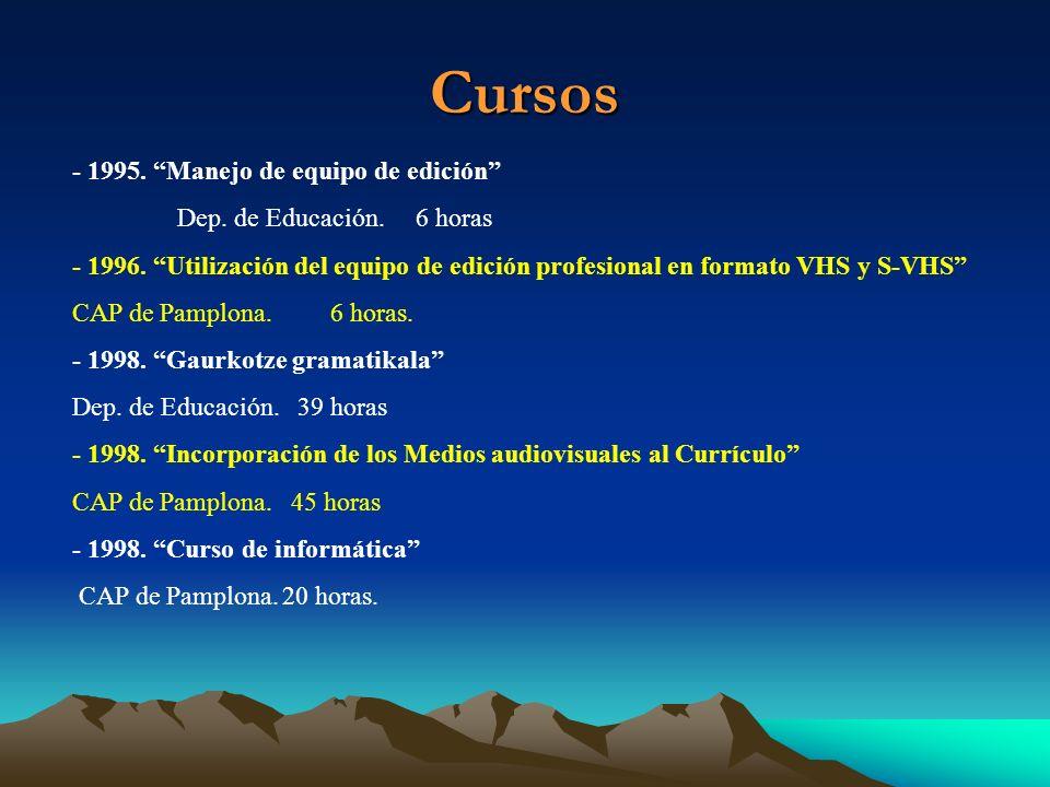 Cursos - 1998.Curso Edición de páginas Web con Frontpage INAFRE.