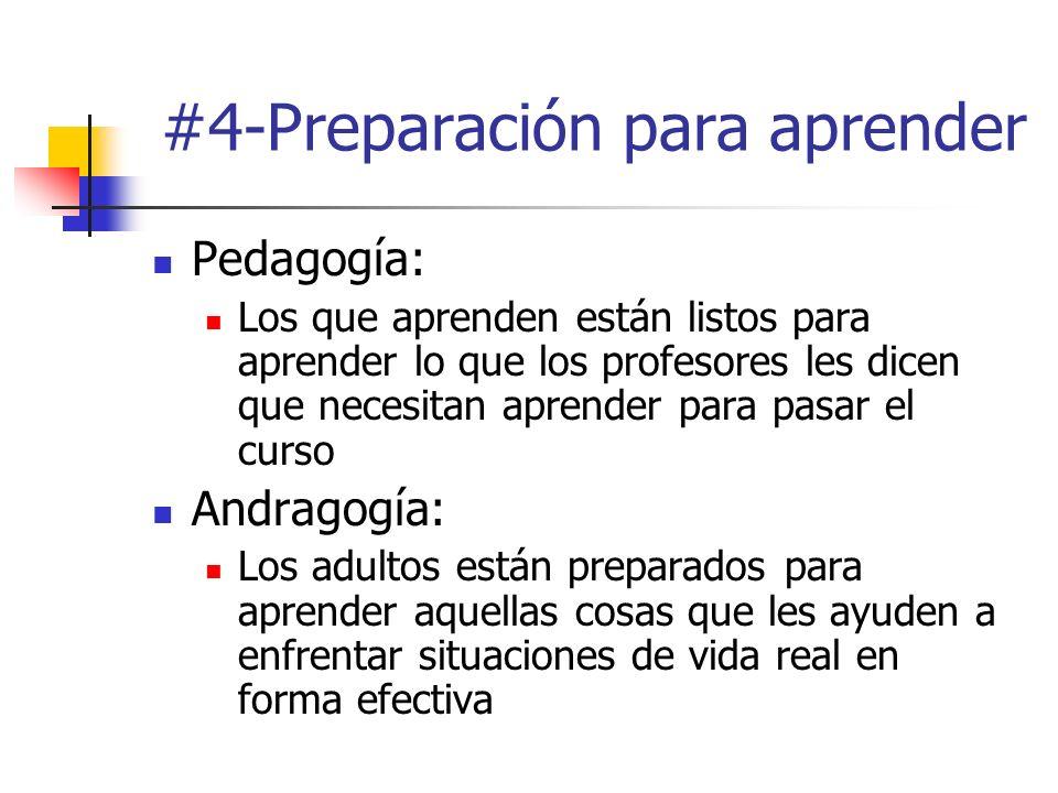 #4-Preparación para aprender Pedagogía: Los que aprenden están listos para aprender lo que los profesores les dicen que necesitan aprender para pasar