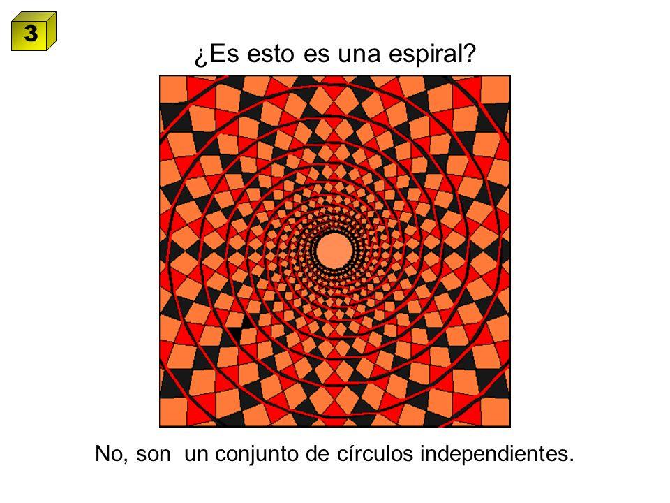 ¿Es esto es una espiral? No, son un conjunto de círculos independientes. 3