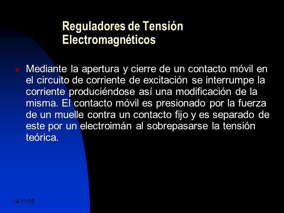 14/11/06 DuocUc, Ingenería Mecánica Automotriz y Autotrónica 45 Reguladores de Tensión Electromagnéticos Mediante la apertura y cierre de un contacto móvil en el circuito de corriente de excitación se interrumpe la corriente produciéndose así una modificación de la misma.