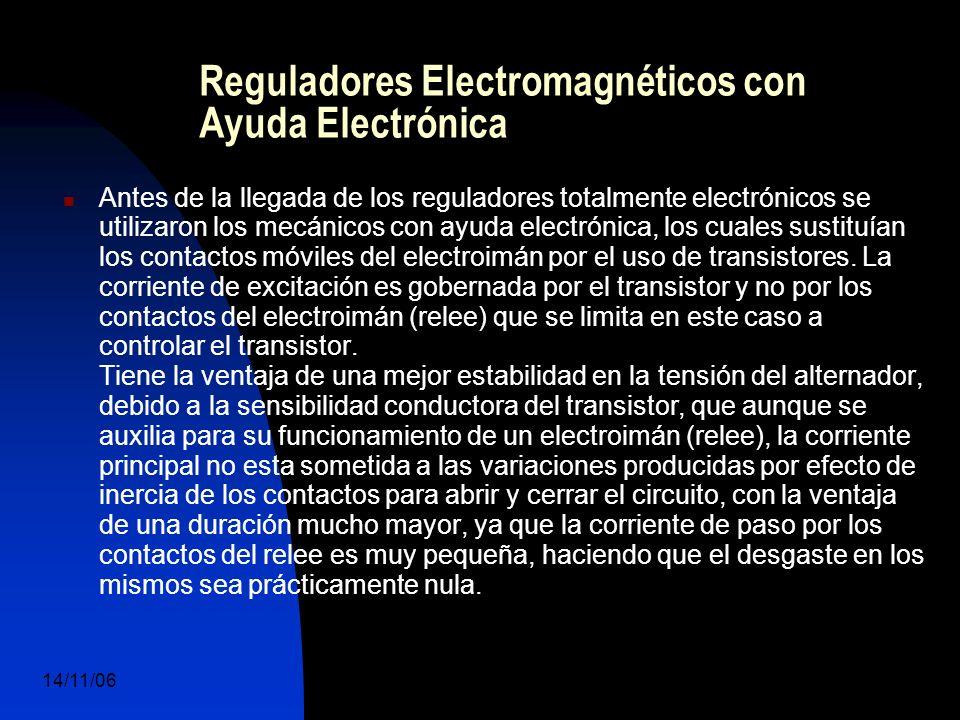 14/11/06 DuocUc, Ingenería Mecánica Automotriz y Autotrónica 47 Reguladores Electromagnéticos con Ayuda Electrónica Antes de la llegada de los reguladores totalmente electrónicos se utilizaron los mecánicos con ayuda electrónica, los cuales sustituían los contactos móviles del electroimán por el uso de transistores.