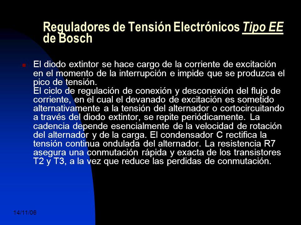 14/11/06 DuocUc, Ingenería Mecánica Automotriz y Autotrónica 53 El diodo extintor se hace cargo de la corriente de excitación en el momento de la interrupción e impide que se produzca el pico de tensión.
