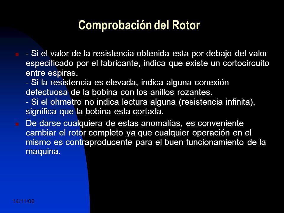 14/11/06 DuocUc, Ingenería Mecánica Automotriz y Autotrónica 65 - Si el valor de la resistencia obtenida esta por debajo del valor especificado por el fabricante, indica que existe un cortocircuito entre espiras.