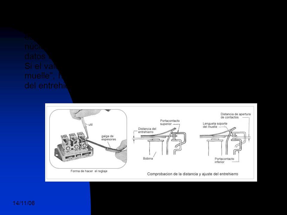 14/11/06 DuocUc, Ingenería Mecánica Automotriz y Autotrónica 75 Reglaje y tarado del regulador de tensión Con los contactos cerrados y por medio de una galga de espesores, comprobar el entrehierro entre la parte superior del núcleo de la bobina y el ancora cuyo valor debe coincidir con los datos dados por el fabricante (de 0,9 a 1 mm).