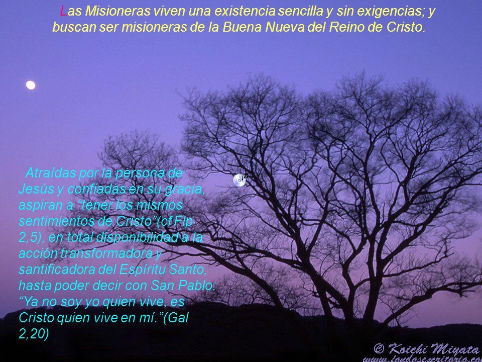 La fisonomía espiritual de las Misioneras, será la siguiente: ALMAS POSEÍDAS ENTERAMENTE DEL EVANGELIO, CUYO DISTINTIVO ES EL AMOR, SU VIDA, POR TANTO