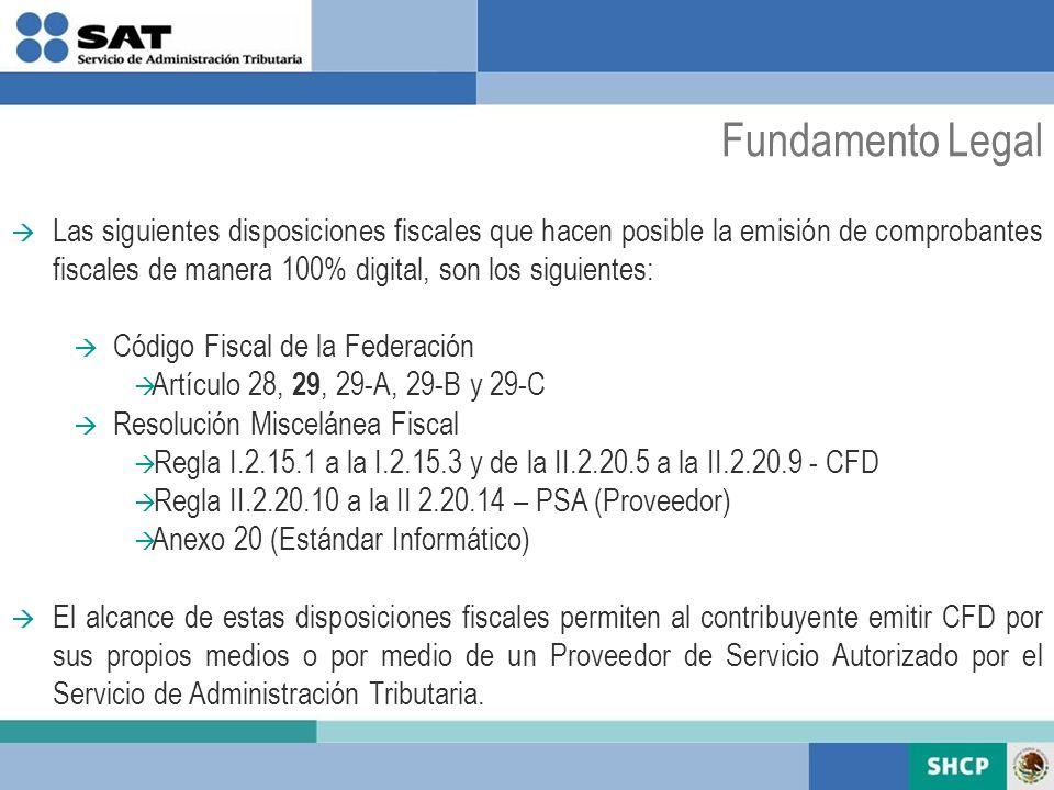 Las siguientes disposiciones fiscales que hacen posible la emisión de comprobantes fiscales de manera 100% digital, son los siguientes: Código Fiscal