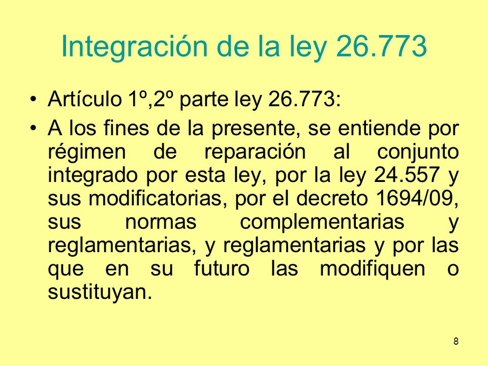9 Artículo 11 inciso 3° Para mejorar las prestaciones dinerarias, lo que se ha hecho en forma insuficiente se podría haber por decreto art.
