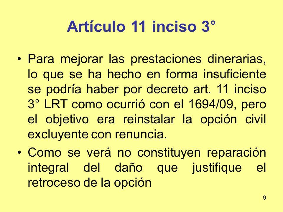 40 ACCION Y CUMULO CONTRA TERCEROS Artículo 39, 1 y 2: El empleador mas protegido que terceros.