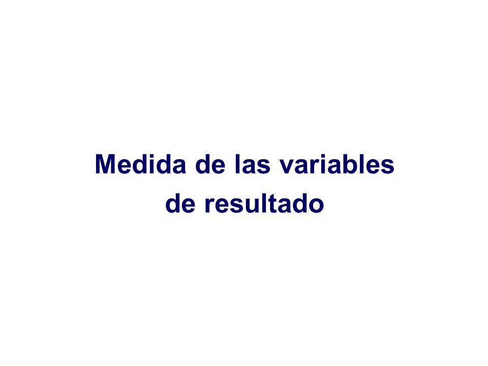 Medida de las variables de resultado