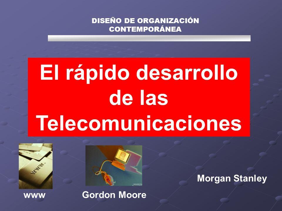 DISEÑO DE ORGANIZACIÓN CONTEMPORÁNEA El rápido desarrollo de las Telecomunicaciones www Morgan Stanley Gordon Moore