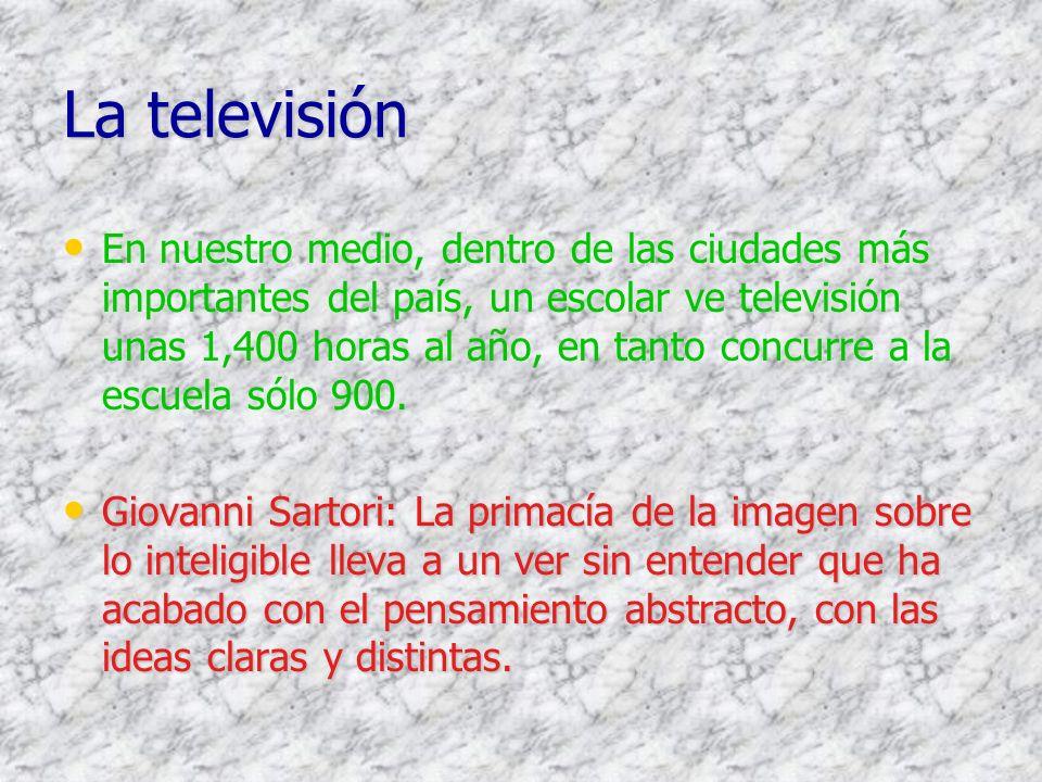 Evolución de las Inversiones Publicitarias Estimado al costo real 1997-2000 Millones de dólares 1997199819992000 US%US%US%US% TELEVISION16548.413244.1