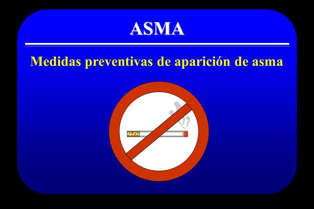 ASMA Medidas preventivas de aparición de asma