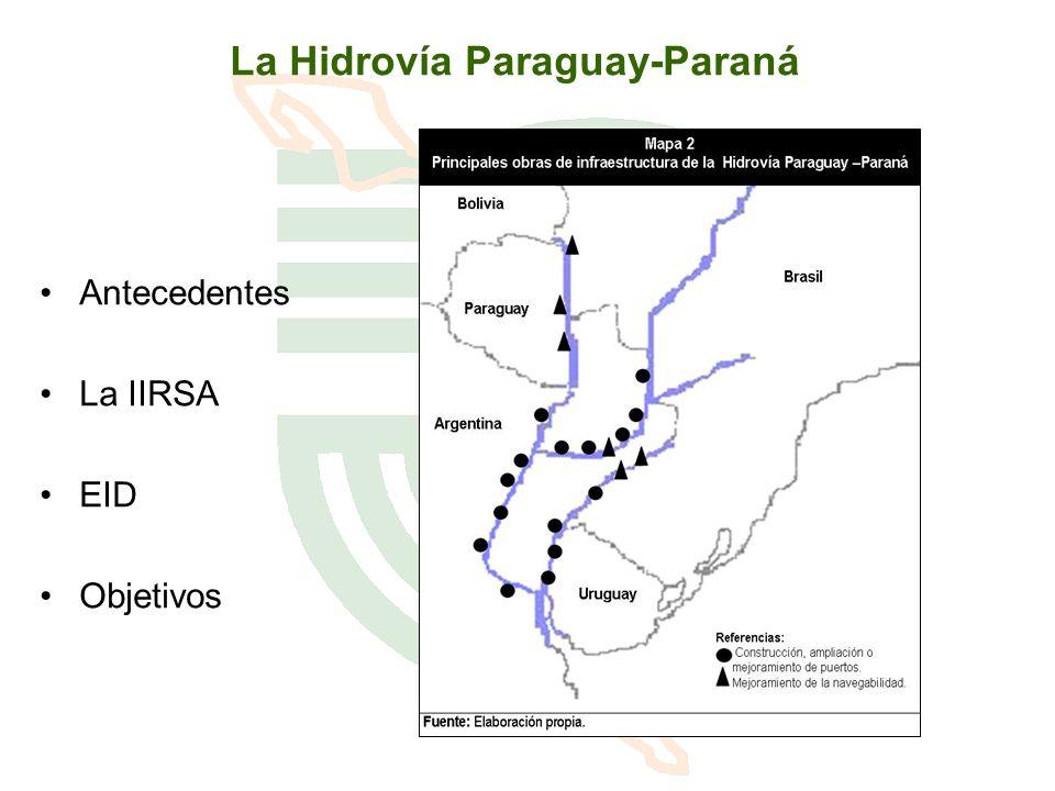 La Hidrovía Paraguay-Paraná Antecedentes La IIRSA EID Objetivos