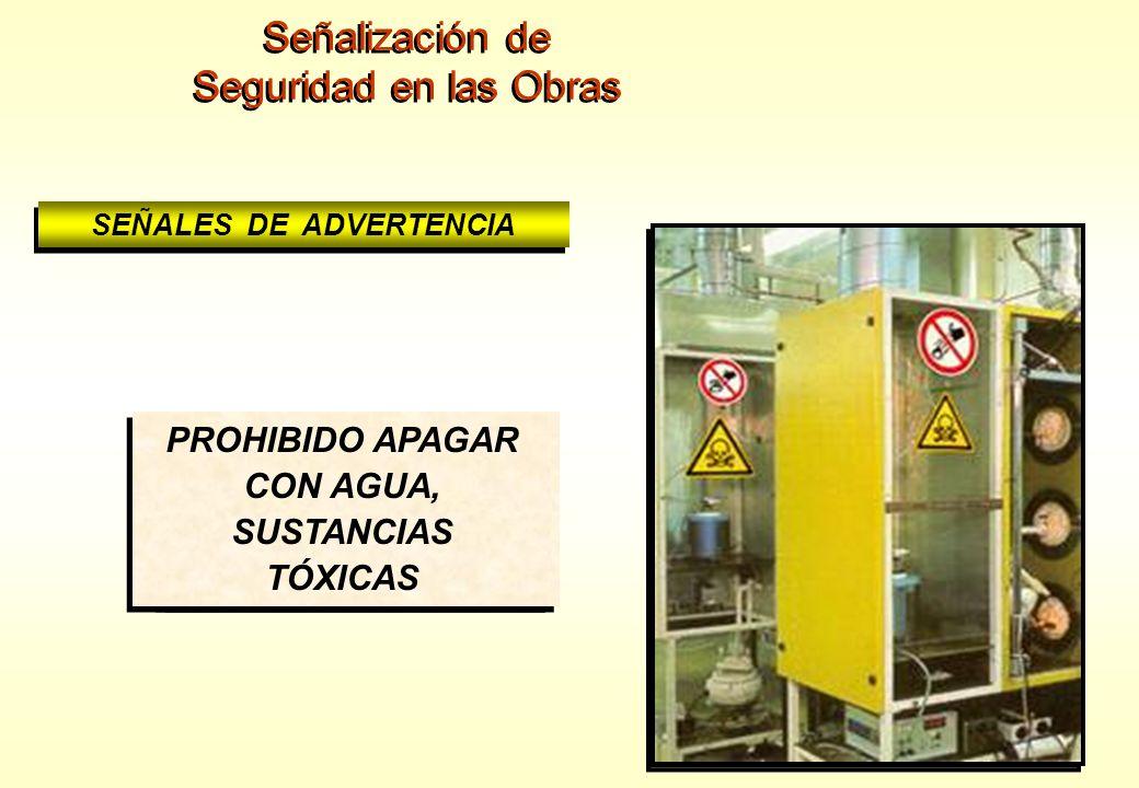 Señalización de Seguridad en las Obras Señalización de Seguridad en las Obras SEÑALES DE ADVERTENCIA RIESGO DE CARGAS SUSPENDIDAS RIESGO DE CARGAS SUS