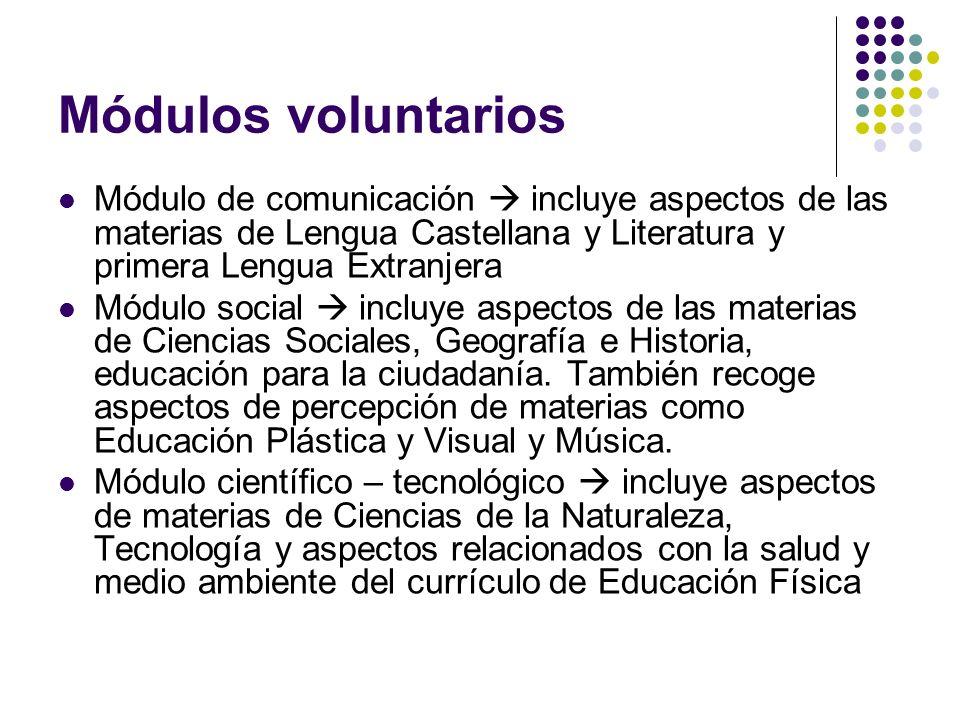 Certificados El alumno/a que supere los módulos obligatorios obtendrá certificado académico acreditando sus competencias profesionales adquiridas.