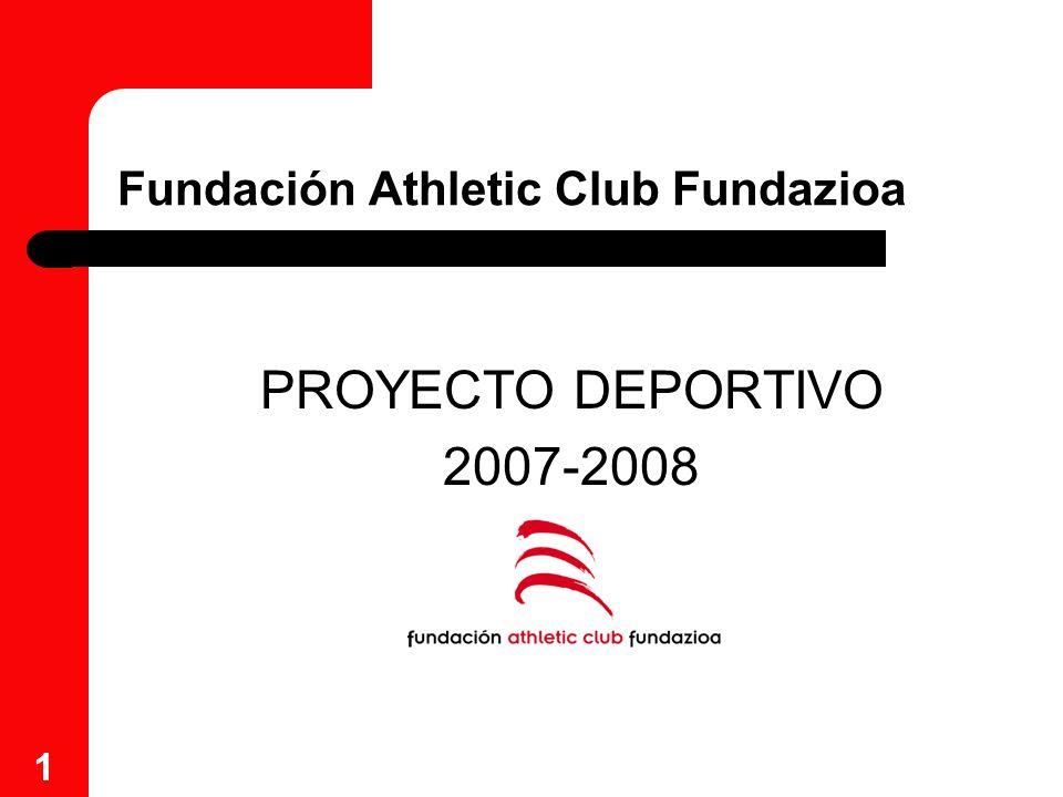 1 Fundación Athletic Club Fundazioa PROYECTO DEPORTIVO 2007-2008