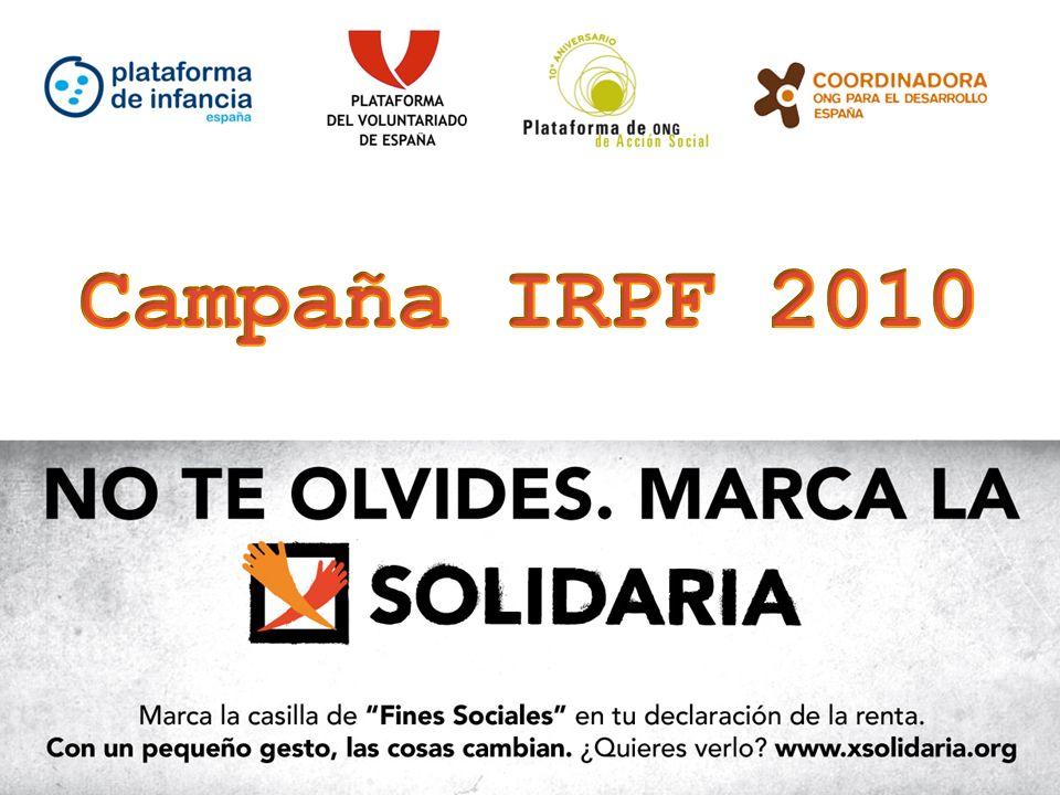 19 Los protagonistas de esta campaña son cuatro beneficiarios reales de los proyectos financiados con la casilla de Fines Sociales: Irene Carrera.