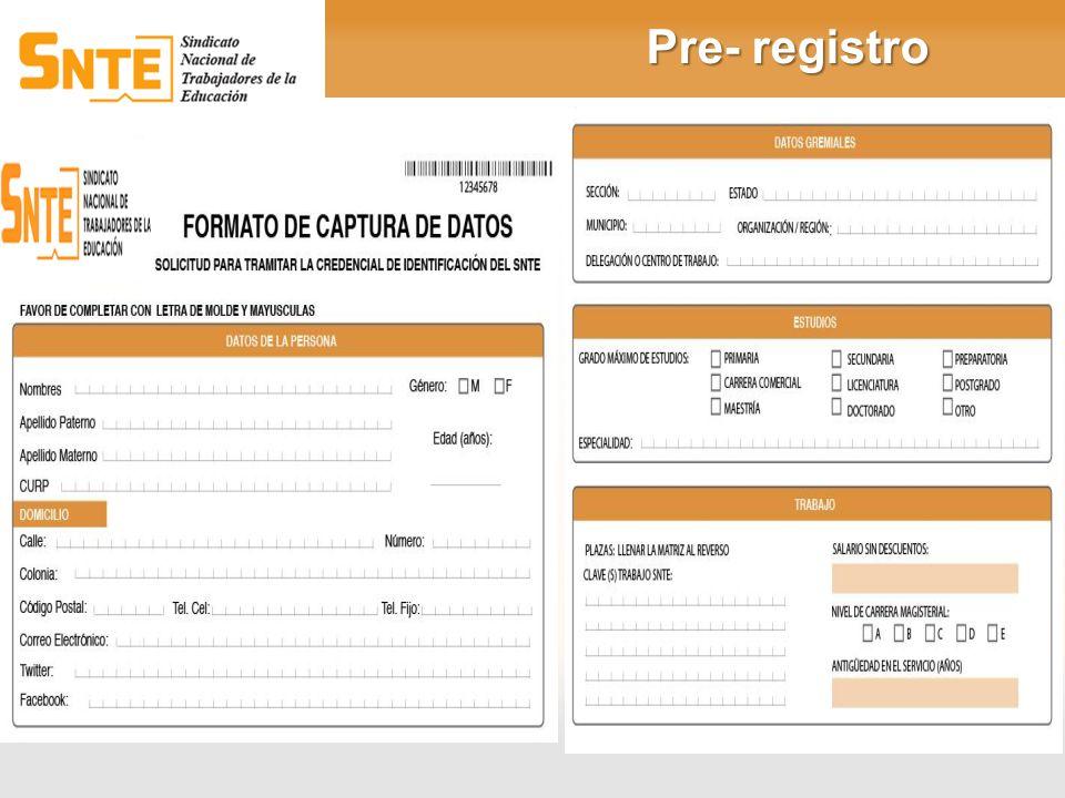 Pre- registro