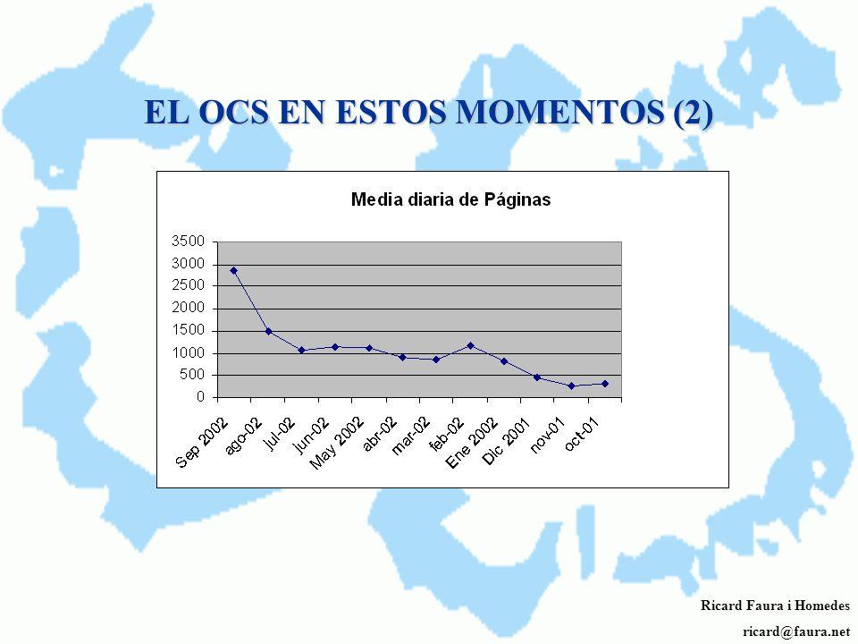 EL OCS EN ESTOS MOMENTOS Ricard Faura i Homedes ricard@faura.net