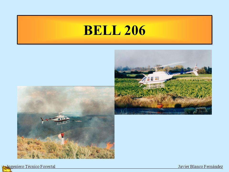 HELICOPTEROS LIGEROS PEQUEÑOS HELICOPTEROS BOMBARDEROS O DE COORDINACIÓN COMO: TIPOPERSONASAGUAVELOCIDAD BELL 206 BITURBINA5 + tripulación500 L204 km/