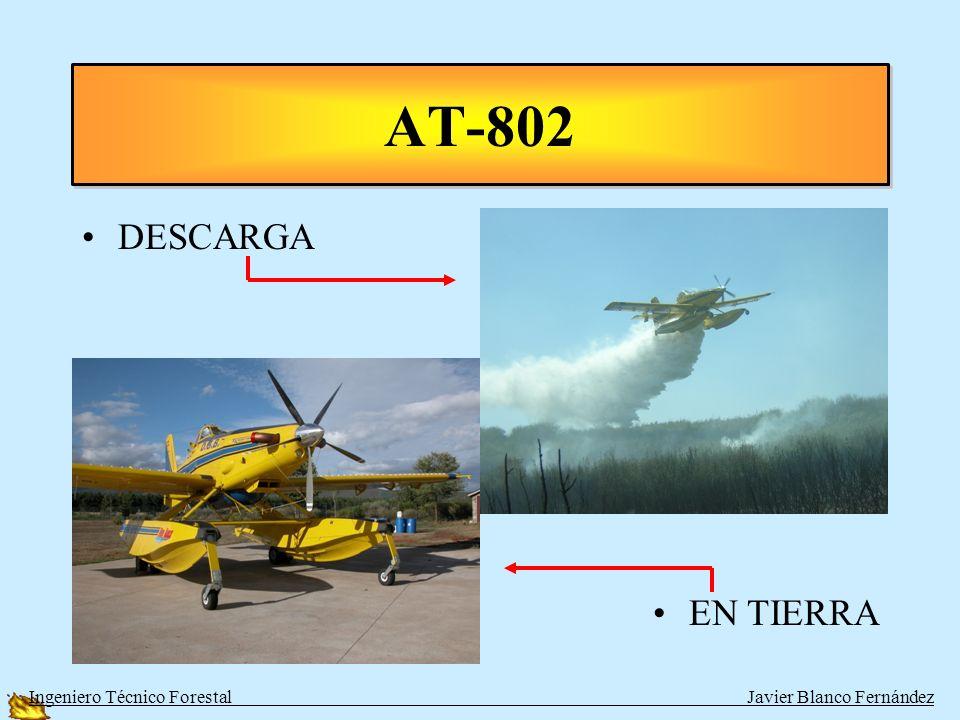 AVIONES ANFIBIOS TIPOAUTONOMÍAAGUAVELOCIDAD AT-802 1 de Turbohélice 5 h3500280 km/h CL-215 CL-215-T 2 de Pistón o Turbohélice 4,5 h5000 304 km/h 380 k