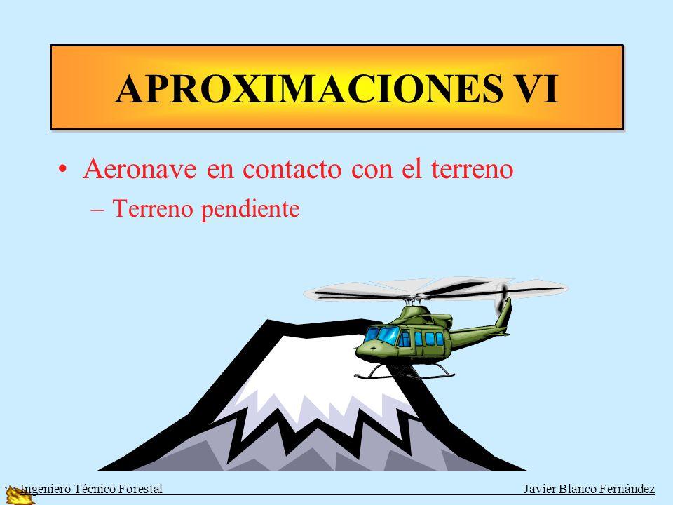 Aeronave en contacto con el terreno –Terreno llano APROXIMACIONES V Ingeniero Técnico Forestal Javier Blanco Fernández