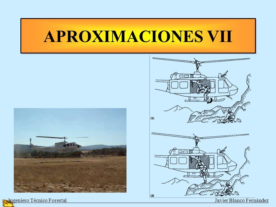 Aeronave en vuelo estacionario APROXIMACIONES VII Ingeniero Técnico Forestal Javier Blanco Fernández