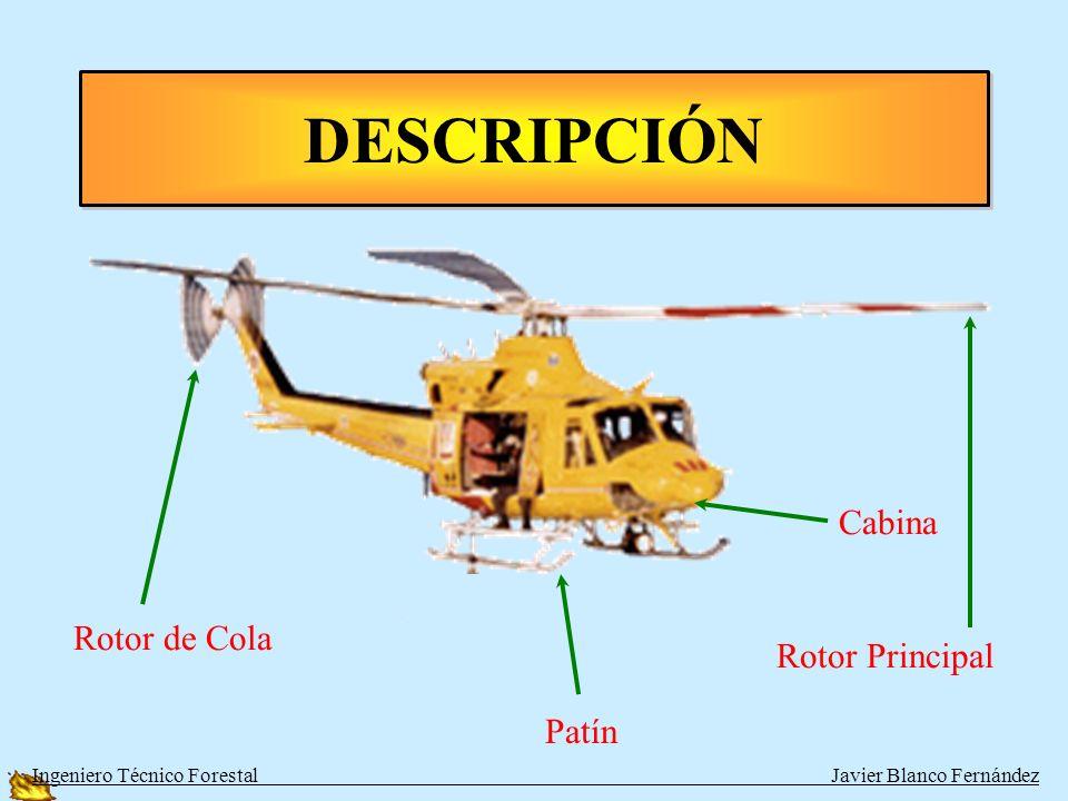 DESCRIPCIÓN Ingeniero Técnico Forestal Javier Blanco Fernández Rotor Principal Patín Rotor de Cola Cabina