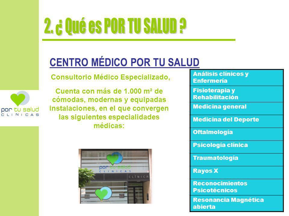 Por tu Salud, dispone de 9 consultas médicas