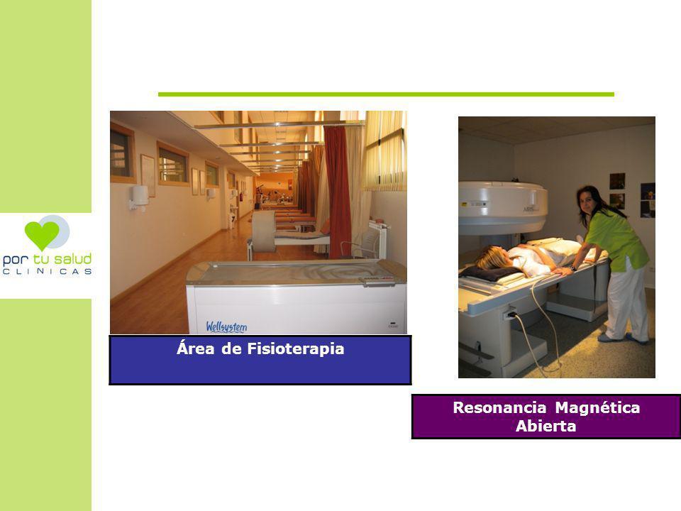 Área de Fisioterapia Resonancia Magnética Abierta