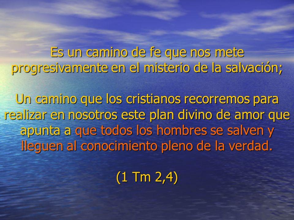Es un camino de fe que nos mete progresivamente en el misterio de la salvación; Un camino que los cristianos recorremos para realizar en nosotros este