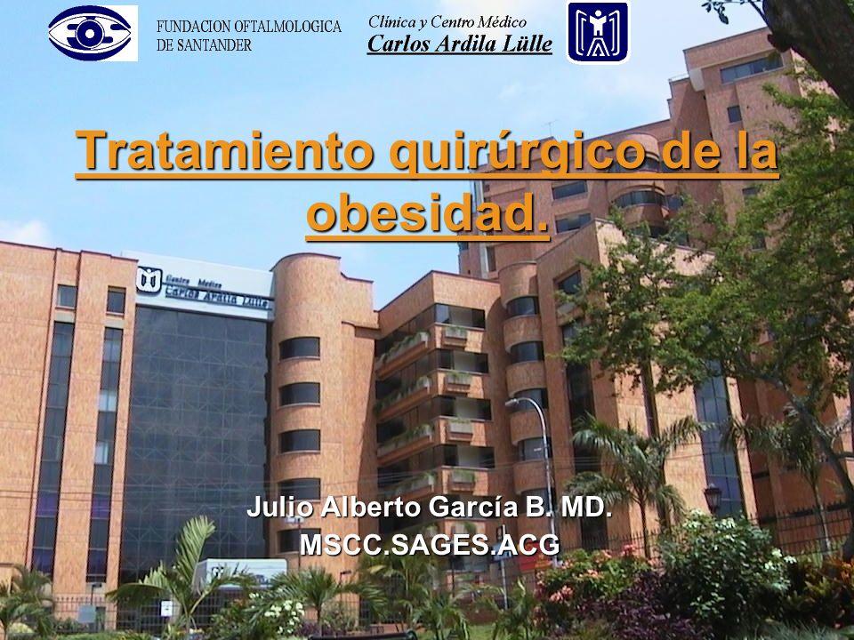 Tratamiento quirúrgico de la obesidad. Julio Alberto García B. MD. MSCC.SAGES.ACG
