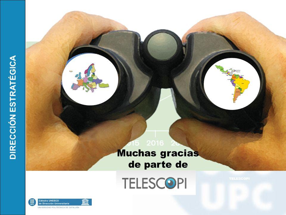 DIRECCIÓN ESTRATÉGICA Muchas gracias de parte de TELESCOPI