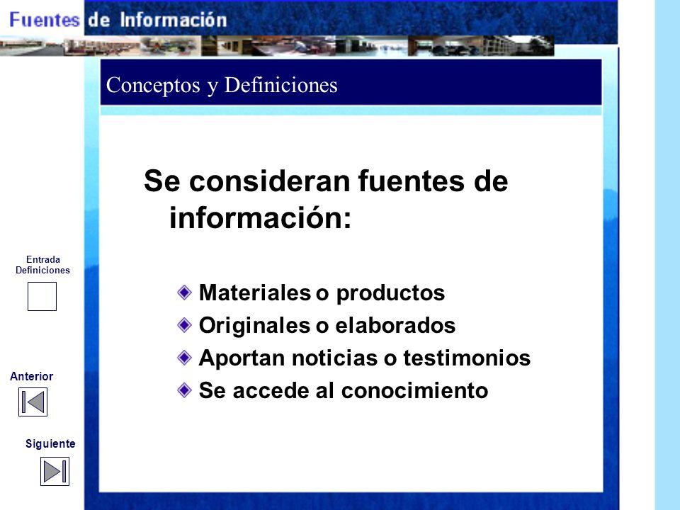 Conceptos y Definición de Fuentes Conceptos y Definición de Fuentes Anterior Siguiente Clasificación Conceptos y Definiciones Conceptos y Definiciones