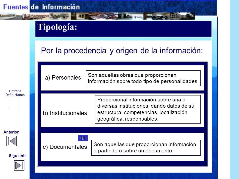Fuente de información Fuente de información es cualquier recurso que responda a una demanda de información por parte de los usuarios, incluyendo produ