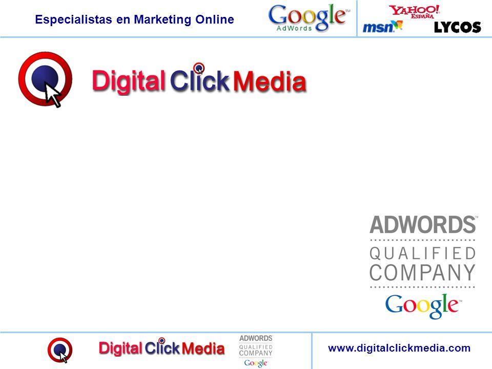 Especialistas en Marketing Online www.digitalclickmedia.com Casi el 62% de los Internautas confía plenamente en la imparcialidad de los resultados de los buscadores.