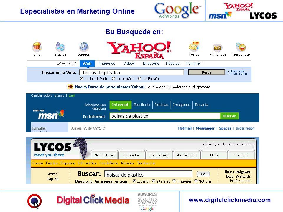 Especialistas en Marketing Online www.digitalclickmedia.com Su Busqueda en: bolsas de plastico bolsas de plastico bolsas de plastico