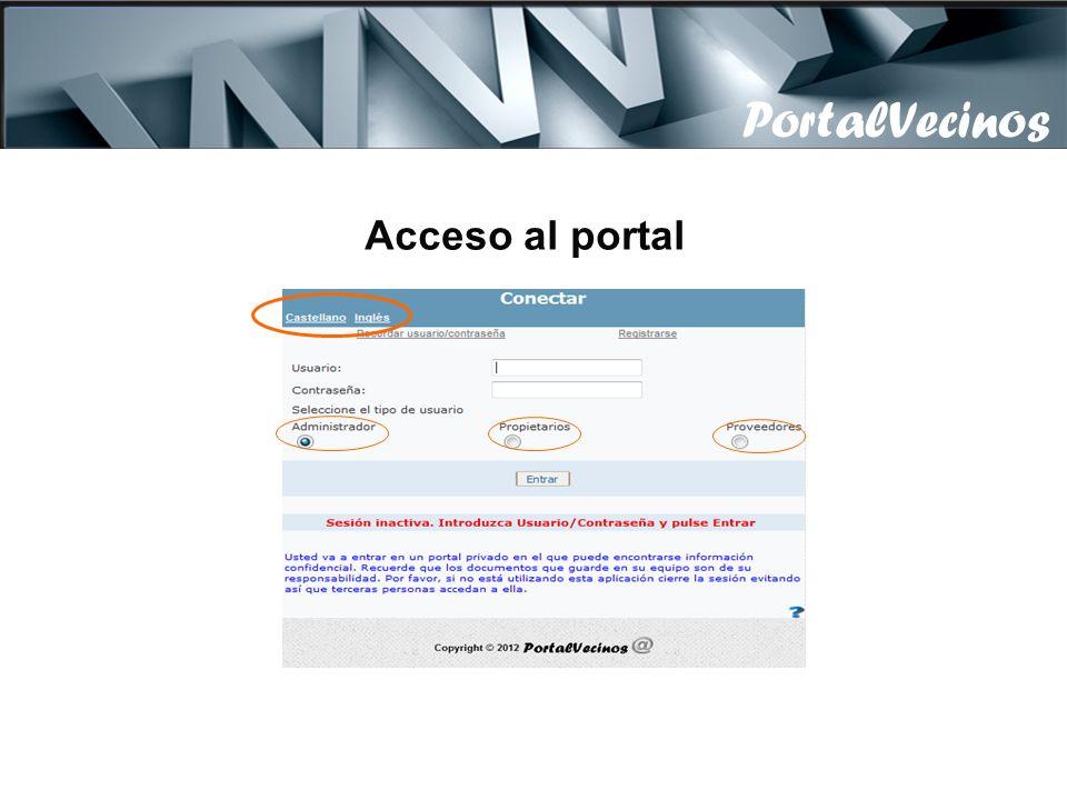 Descripción PortalVecinos es un portal Web, para que los comuneros dispongan en Internet de una plataforma documental y gráfica donde tengan toda la i